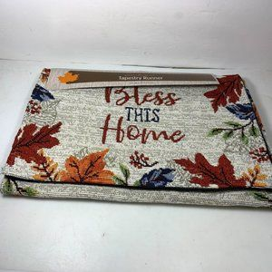 Fall Thanksgiving Table Runner Bless This Home